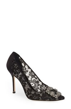 Manolo Blahnik 'Hangisi' Pointy Toe Pump (Women) available at #Nordstrom