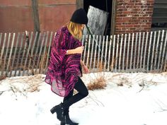 The Magenta Black Tribal Kimono by StellaAndStosh on Etsy