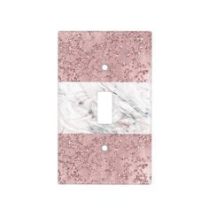 Shop Rose Gold Modern Glam Marble & Glitter Decorative Light Switch Cover created by printabledigidesigns. Glitter Bathroom, Glitter Room, Glitter Spray Paint, Glitter Vans, Glitter Glue, Glitter Heels, Marble Room Decor, Rose Gold Room Decor, Rose Gold Rooms