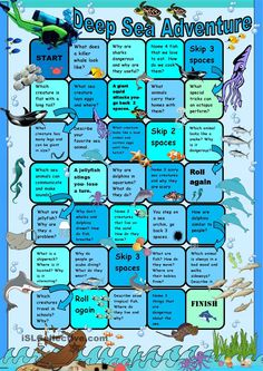 Deep Sea Animals Adventure Boardgame