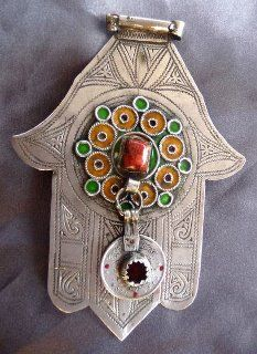 Old Silver Hand of Fatima - Khamsa - Tiznit✖️More Pins Like This At FOSTERGINGER @ Pinterest✖️