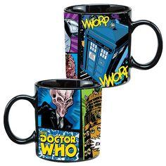 Doctor Who Comic Book 20 oz. Ceramic Mug - Vandor - Doctor Who - Mugs at Entertainment Earth