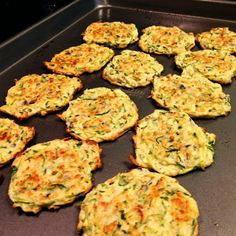 Tasty and (Mostly) Healthy Recipes: Baked Zucchini Fritters