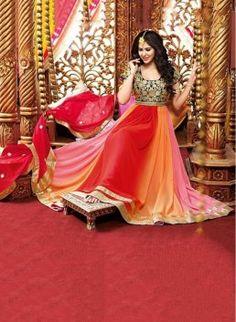 Multi Color Designer Anarkali Suit