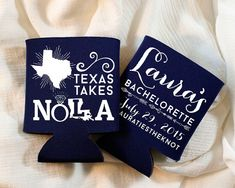 Bachelorette Coozies Wedding Coozies NOLA by SipHipHooray on Etsy