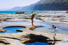 Near Burning Palms Beach - the Figure 8 Rock Pools Tasmania, Sydney Australia, Australia Travel, The Places Youll Go, Places To See, Destinations, Australian Beach, Rock Pools, Belleza Natural
