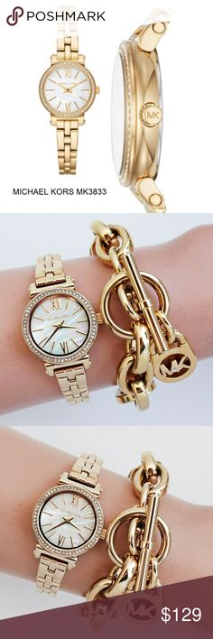 88fd41d95229 Michael Kors Women s Sofie Gold-Tone Watch MK3833    100% GUARANTEED  AUTHENTIC