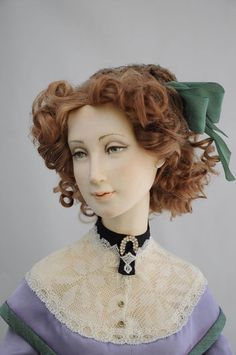 Classic Outfits, Classic Clothes, Edwardian Hairstyles, Weird Toys, Half Dolls, Antique Dolls, Hair Styles, Russian Art, Handmade