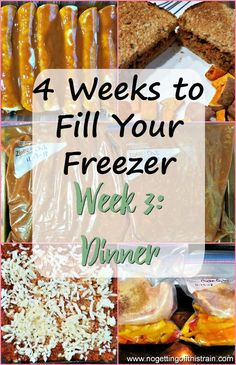 In Week 3 of this 4 Weeks to Fill Your Freezer challenge, you'll make quick and . - In Week 3 of this 4 Weeks to Fill Your Freezer challenge, you'll make quick and simple freezer me - Weight Watchers Freezer Meals, Freezer Friendly Meals, Budget Freezer Meals, Make Ahead Freezer Meals, Frugal Meals, Freezer Dinner, Freezable Meals, Bulk Cooking, Cooking On A Budget
