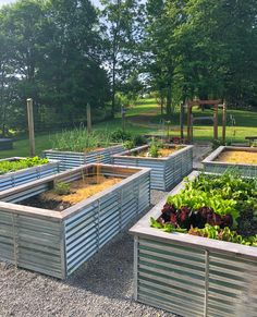 A full tutorial on how to build Galvanized Steel Raised Beds, why they are better than any other types of raised beds, and how to turn them into easy cold frames. # Gardening beds Galvanized Steel Raised Garden Bed Plans and Tutorial Metal Raised Garden Beds, Raised Garden Bed Plans, Building Raised Garden Beds, Raised Garden Bed Design, Stone Raised Beds, Raised Bed Frame, Raised Bed Diy, Garden Bed Layout, Garden Boxes