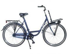 Herenfiets Granduty Blauw met voorrek 26 inch. | bestel gemakkelijk online op Fietsen-verkoop.nl