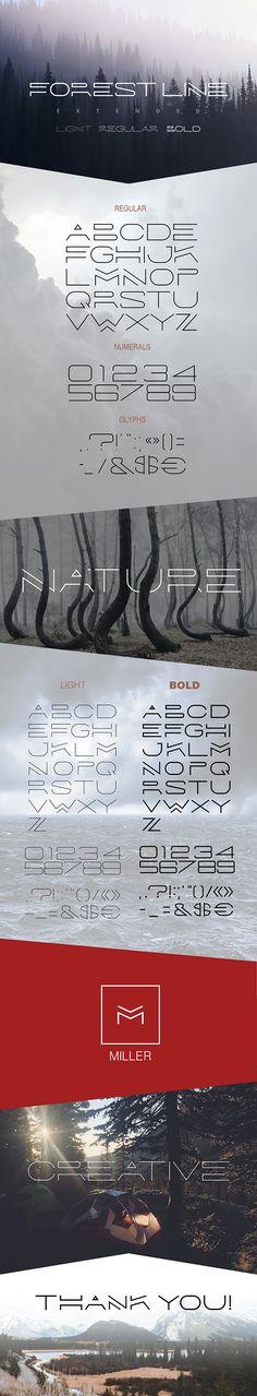 Forest Line Extended Linear Font #type #letter Download: http://graphicriver.net/item/forest-line-extended-linear-font/14171742?ref=ksioks
