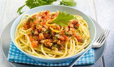 Σπαγγέτι με σάλτσα ξιφία