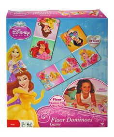 Great for family fun on the floor, this set of oversize dominoes brings a bit of Disney magic to playtime thanks to the precious princesses printed on each piece.
