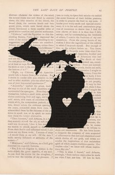 My Heart is in Michigan - print on vintage book page from Etsy seller ExLibrisJournals.  $9