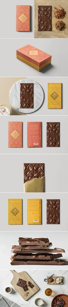 Beau Cacao Chocolate is Almost too Pretty to Eat (Almost) — The Dieline - Branding & Packaging Design.