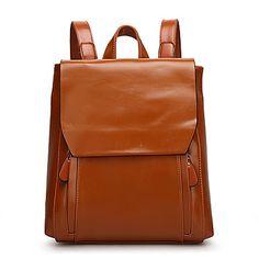 Women Bags Cowhide Backpack for Casual All Seasons Black Brown Green Wine Royal Blue