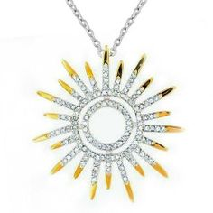 Bling Jewelry Sunburst Sun Motif Pendant Necklace Two Tone Clear CZ with Gold Plated 925 Silver Inch * Very kind of your presence to have dropped by to view the photo. (This is an affiliate link) Bling Jewelry, Pendant Jewelry, Jewelry Necklaces, Pendant Necklace, Jewelry Box, Black Diamond Jewelry, Tear, Stylish Jewelry, Birthstone Jewelry