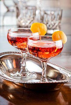 The Lucien Gaudin: Dry Gin, Campari, Dry Vermouth, Cointreau.