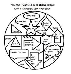 Free art therapy counseling group activity worksheet