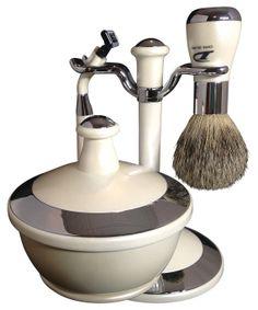 Delong Mens Shaving Kit with Pure Badger Hair by CommandersCloset, $49.99