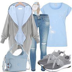 Hellblau Outfit - Freizeit Outfits bei FrauenOutfits.de