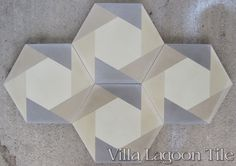 "Hex Cane"" Cement Tile 