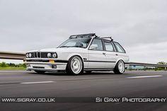 BMW E30 3 series Touring white