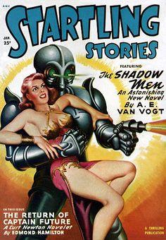 Vintage Sci Fi Poster ANC Startling Stories
