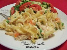 Save Print Tuna Noodle Casserole  Ingredients 8 oz egg noodles, cooked 2 Tbsp olive oil ⅓ c onion, diced small ⅓ c carrot, cut into small pieces 2 Tbsp flour 3 cups skim milk 4 oz…