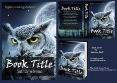 Premade Book Cover 409 - Owl with Info by Jassy2012.deviantart.com on @DeviantArt Premade Book Covers, Book Title, Owl, Author, Books, Libros, Art, Owls, Book