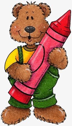 Crayon bear PNG and Clipart Tatty Teddy, Art D'ours, Bear Clipart, Bear Theme, Gif Animé, Bear Art, Cute Bears, Tole Painting, School Clipart