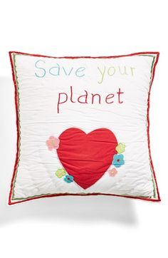 AMITY HOME 'Save the Planet' Pillow available at #Nordstrom Sale: $32.90 After Sale: $50.00 Item #392686