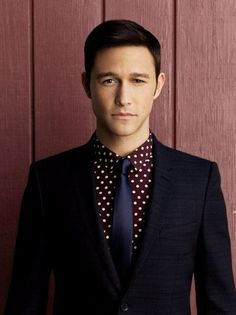 I would marry this color scheme. JGL rockin' the maroon polka dot..