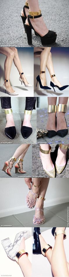 Ankle cuff shoes