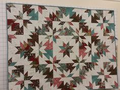 Star quilt ideas and and Hunters Star Quilt, Lone Star Quilt, Star Quilt Blocks, Star Quilt Patterns, Star Quilts, Quilting Projects, Quilting Designs, Quilting Ideas, Neutral Quilt