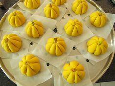 Steamed Pumpkin buns with Lotus paste filling 南瓜小包子 (recipe source: visually inspired by here, recipe by Sonia aka Nasi Pumpkin Buns Recipe, Steam Pumpkin, Nasi Lemak, Bun Recipe, Lotus, Menu, Vegetables, Recipe Source, Sweet