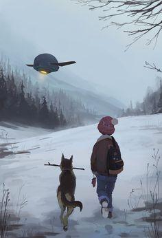 The Art Of Animation, Andrey Osadchikh Story Inspiration, Character Inspiration, Character Art, Character Design, Matte Painting, Art Inspo, Science Fiction, Fantasy Art, Cool Art