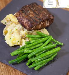 Cocoa crusted steak with creamy crushed potatoes. Jenny Morris, Lamb Pie, Crushed Potatoes, South African Recipes, Chefs, Beef Recipes, Cocoa, Steak, Tasty