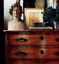 my favorite bust.Ralph Lauren Home House Styles, Decor, Country Retreat, Interior Decorating, Home, My French Country Home, Furniture Styles, Ralph Lauren Home, Country Flair