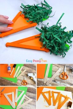 Another festive season is upon us! Are you ready to do some Easter crafts with your kids? Today we are sharing an easy craft stick carrot craft with you, which is perfect for the season. Easter Crafts For Toddlers, Christmas Crafts For Kids To Make, Easter Activities, Toddler Crafts, Halloween Crafts For Kids, Kids Christmas, Bunny Crafts, Snowman Crafts, Craft Stick Crafts