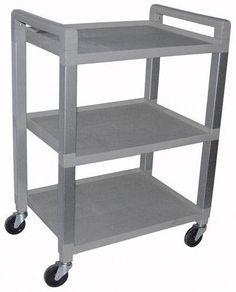 `Utility Poly Cart w/3 Shelves