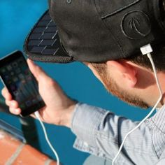 A hat that can charge a cellphone.