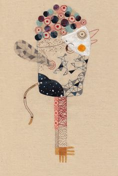 Artist: Annalisa Bollini. Title: The Monkey Bird. Date: c. 2014/2015. Publisher: Fondazione San Zeno. Medium: Calendar Illustration.