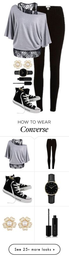"""Bored // Ask questions in comments"" by thekaylabella on Polyvore featuring River Island, Converse, ROSEFIELD and Marc Jacobs"