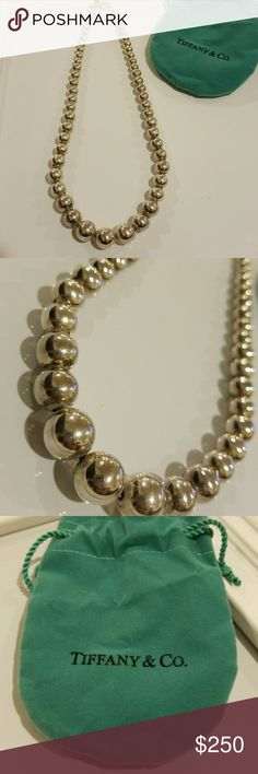 Tiffany and co. Necklace Tiffany and co. Graduated bead necklace. Never worn. Tiffany & Co. Jewelry Necklaces