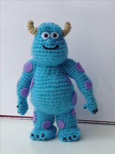 Sully crochet amigurumi #monsters Inc