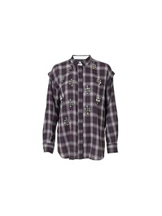 Embellished plaid shirt. Possibly an addition to my fall wardrobe? Not this one though, too expensive and not 100% perfect.