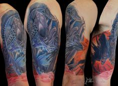 Alien Sleeve By Robert Witczuk Color Tattoo, Piercings, Ink, Tattoos, Colour, Sleeve, Peircings, Color, Manga