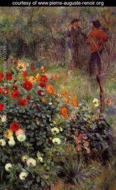 The Garden In The Rue Cortot At Montmartre - Pierre Auguste Renoir - www.pierre-auguste-renoir.org